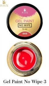 Гель-краска F.O.X Gel paint No Wipe без липкого слоя 5г №3 красная