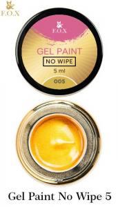 Гель-краска F.O.X Gel paint No Wipe без липкого слоя 5г №5 золото