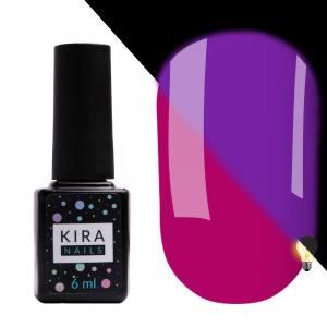 Гель-лак Kira Nails FLUO 008 (ягодный, флуоресцентный), 6 мл