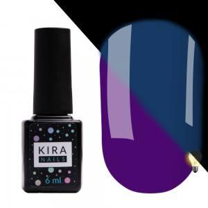 Гель-лак Kira Nails FLUO 009 (фиолетовый, флуоресцентный), 6 мл