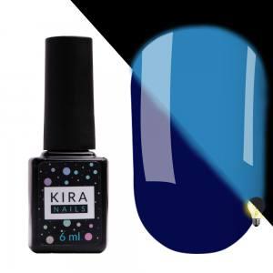 Гель-лак Kira Nails FLUO 010 (синий, флуоресцентный), 6 мл