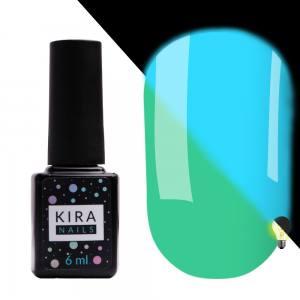 Гель-лак Kira Nails FLUO 011 (мятный, флуоресцентный), 6 мл