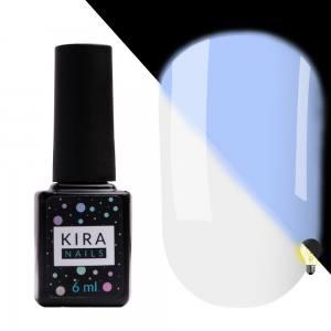 Гель-лак Kira Nails FLUO 012 (белый, флуоресцентный), 6 мл
