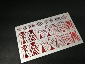 Слайдер фольгированный 125 красный