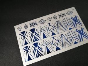 Слайдер фольгированный 125 синий