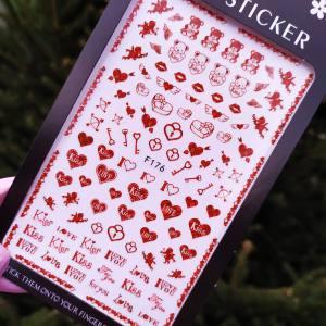 Наклейка для дизайна ногтей Nail Sticker F176