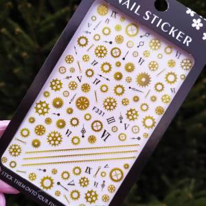 Наклейка для дизайна ногтей Nail Sticker F331