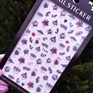 Наклейка для дизайна ногтей Nail Sticker F449