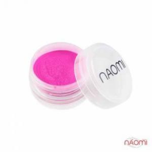 Акриловая пудра Naomi № 007, 3 г, цвет ярко розовый
