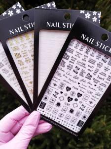 Наклейка для дизайна ногтей Nail Sticker F546