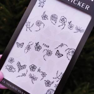 Наклейка для дизайна ногтей Nail Sticker F568