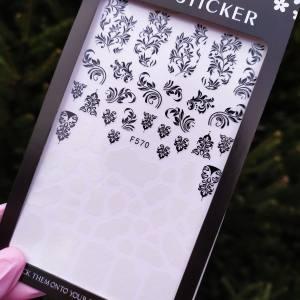 Наклейка для дизайна ногтей Nail Sticker F570