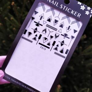 Наклейка для дизайна ногтей Nail Sticker F573