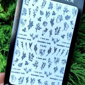 Наклейка для ногтей F640