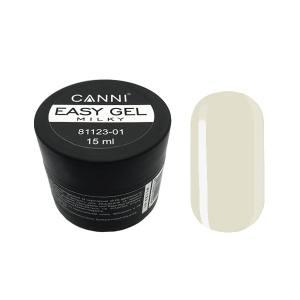 Жидкий гель для наращивания Easy gel 01 MILKY Canni 15мл