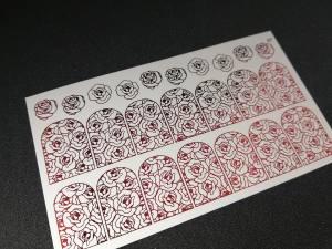 Слайдер фольгированный 87 красный