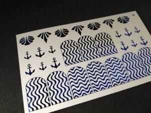 Слайдер фольгированный 98 синий