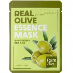 Тканевая маска с оливой FARMSTAY REAL OLIVE ESSENCE MASK 23 мл