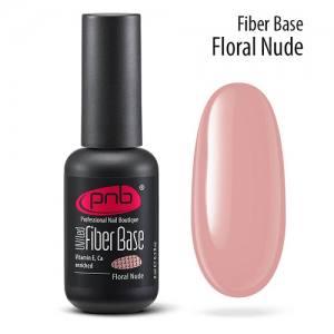 База камуфлирующая с нейлоновыми волокнами PNB Fiber UV/LED Base Floral Nude