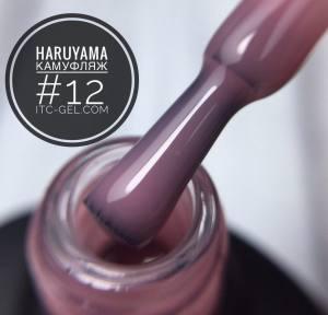 HARUYAMA Гель-лак камуфляж № 12, 8 мл темно-розовый