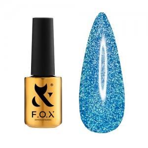 Гель-лак F.O.X Flash №010 (голубой, светоотражающий), 6 мл