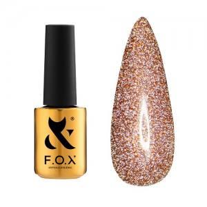 Гель-лак F.O.X Flash №012 (коричнево-золотой, светоотражающий), 6 мл