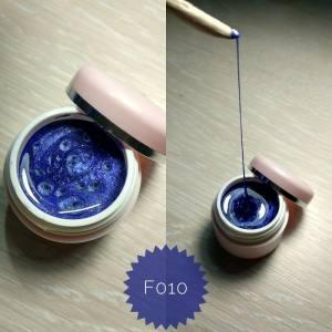Эластичная гель краска Mett ( 3D, паутинка) № F010 темно-синий перламутр
