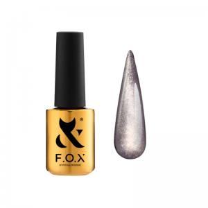 База для гель-лака F.O.X Cat Eye Base 003 (бежево-лиловый, кошачий глаз), 7 мл