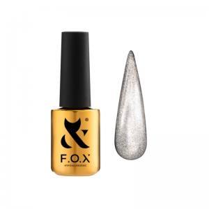 База для гель-лака F.O.X Cat Eye Base 004 (серебристый, кошачий глаз), 7 мл