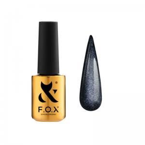 База для гель-лака F.O.X Cat Eye Base 005 (черный, кошачий глаз), 7 мл
