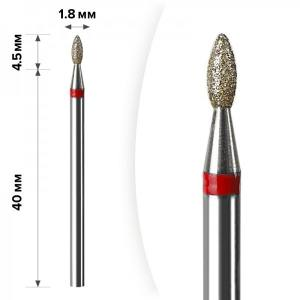 Алмазная насадка Mart  Олива Red 1.8*4.5 М-039