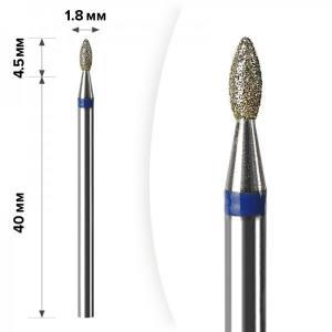 Алмазная насадка Mart Олива Blue 1.8*4.5 М-040
