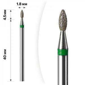Алмазная насадка Mart Олива Green 1.8*4.5 М-041