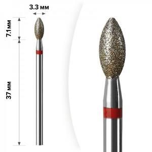 Алмазная насадка Mart Свеча Red 3.3*7,1 М-042