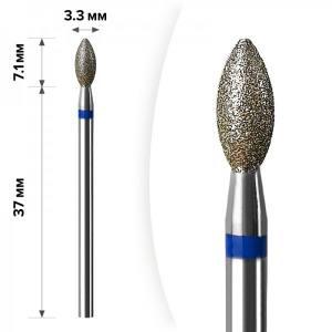 Алмазная насадка Mart Свеча Blue 3.3*7,1 М-043