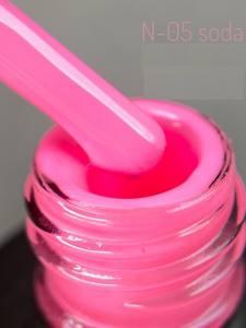 Неоновый гель-лак Adore Professional  7,5мл N-05  кукольно-розовый