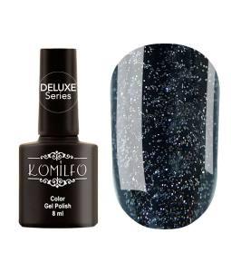 Гель-лак Komilfo DeLuxe Series №G023 (черный, серебристый микроблеск), 8 мл