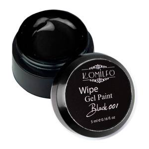 Гель-краска Komilfo Wipe Gel Paint for French Black 001, 5 мл