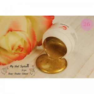 Гель-краска для ногтей My Nail №26 золотой с микроблеском