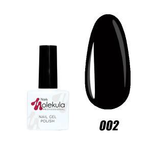 Гель-лак №002 Molekula 11мл Черный