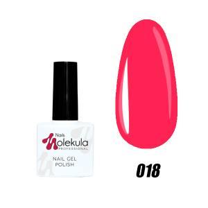 Гель-лак №018 Molekula 11мл Ярко розовый