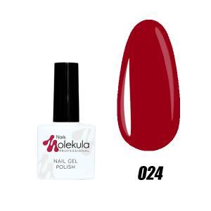 Гель-лак №24 Molekula 11мл Красный классик