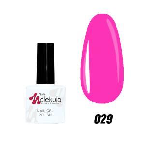 Гель-лак №029 Molekula 11мл Насыщенно розовый