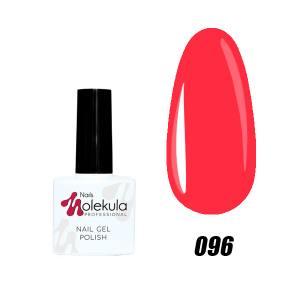 Гель-лак №096 Molekula 11мл Розово коралловый неон