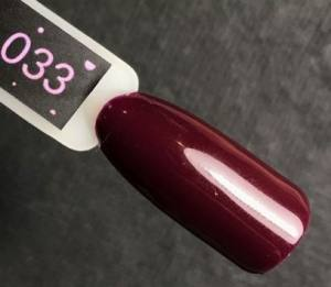 Гель-лак Kira Nails №033 (бургунди, эмаль), 6 мл