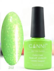 Гель-лак Canni №202 салатовый перламутр