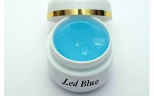 Led гель  Blue прозрачно-голубой