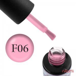 Гель-лак Naomi French FC 06, 6 мл розовый, полупрозрачный, эмалевый