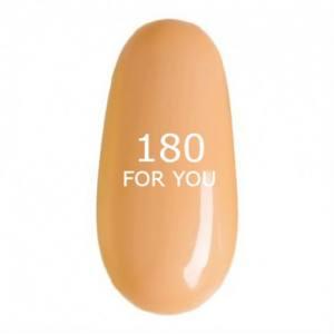 Гель лак для ногтей FOR YOU № 180 Бронзовый Полупрозрачный, эмаль