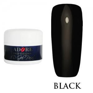 Гель-паста Adore 3D №02 черная, 5 мл